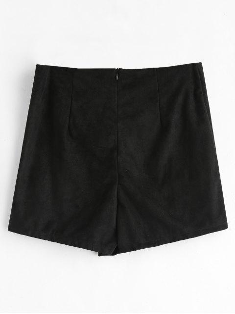 Shorts asymétriques à fermeture éclair - Noir S Mobile