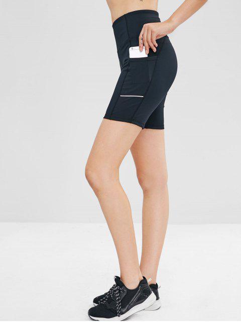Pantalones cortos de bolsillo laterales - Negro M Mobile