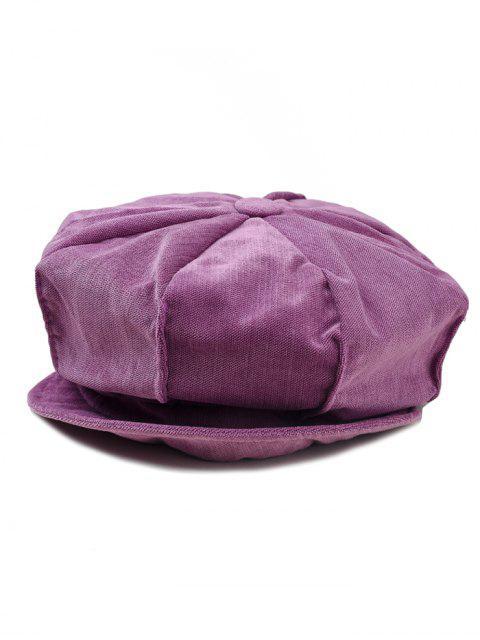 Einfarbige Cord-achteckige Kappe - Jasmine Lila  Mobile