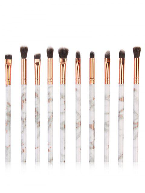 Ensemble de Brosse de Maquillage Pour Yeux en Fibre Soyeuse 10 Pièces - Gris argenté  Mobile