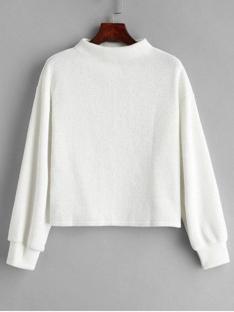 Sudadera de cuello slash liso - Blanco Única Talla Mobile