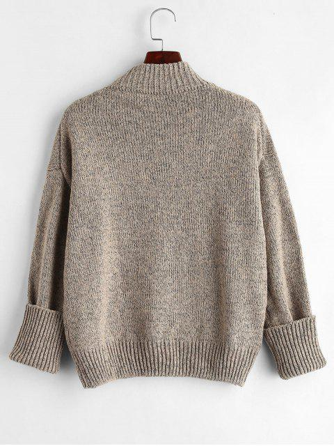 fancy Plain Heathered Pullover Sweater - MULTI ONE SIZE Mobile