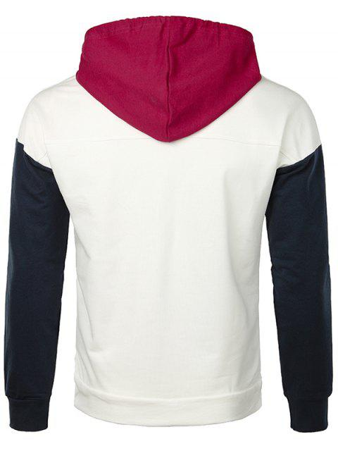 outfits Letter Skull Drawstring Pullover Hoodie - WHITE M Mobile