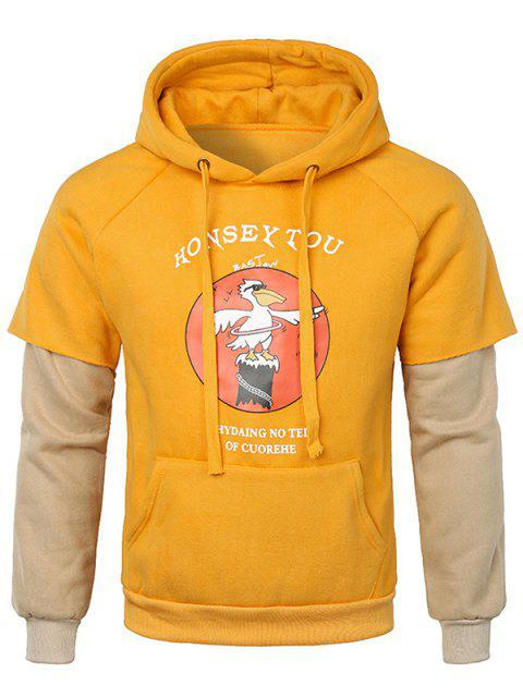 Falso dos piezas con capucha de bolsillo Kanga - Marrón Dorado M Mobile