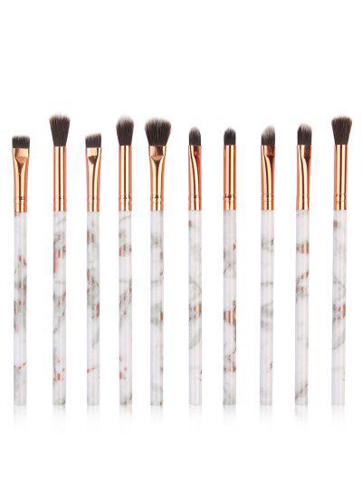 Imagem de 10Pcs Soften Silky Fiber Hair Eye Makeup Brush Set
