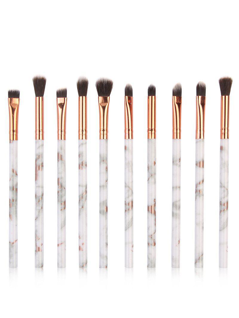 10Pcs Soften Silky Fiber Hair Eye Makeup Brush Set