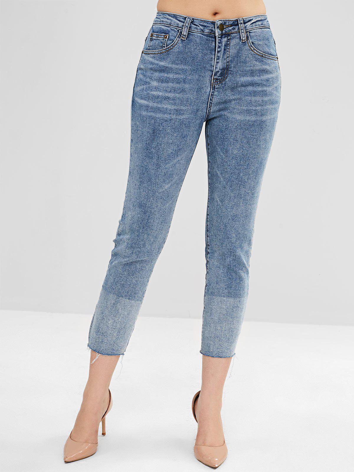 Zipper Fly Ombre Jeans 291787002