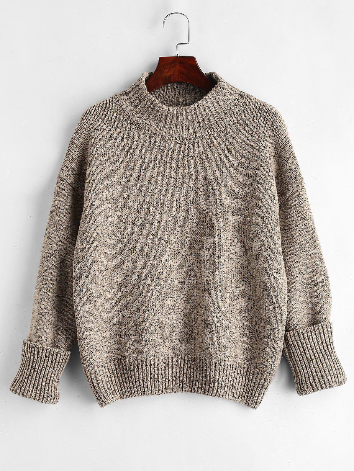 Plain Heathered Pullover Sweater