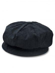 الصلبة اللون كودري مثمن كاب - أسود