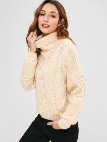 ceb3d2b0f69b Cable Knit Turtleneck Chunky Sweater  Cable Knit Turtleneck Chunky Sweater  ...