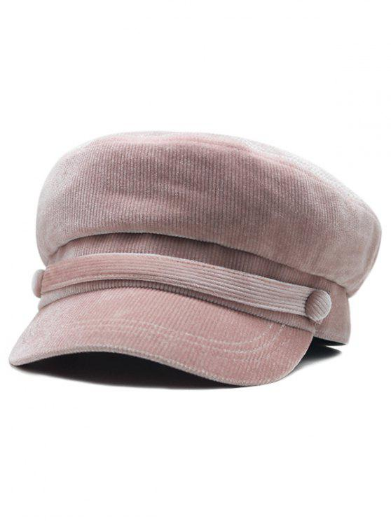 new Solid Color Button Army Hat - LIPSTICK PINK