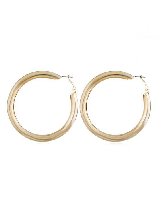 lady Hollow Round Geometric Cuff Stud Earrings - GOLD
