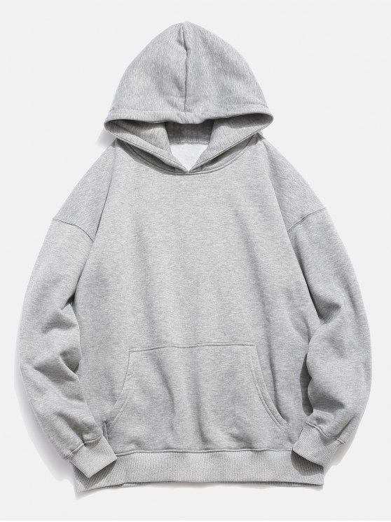 Känguru-Taschen-Fisch-Muster-DruckHoodie - Platinum M