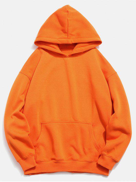 Zurück Koi Pattern Print Hoodie - Kürbis Orange S