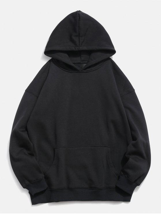 womens Koi Print Front Pocket Hoodie - BLACK XL