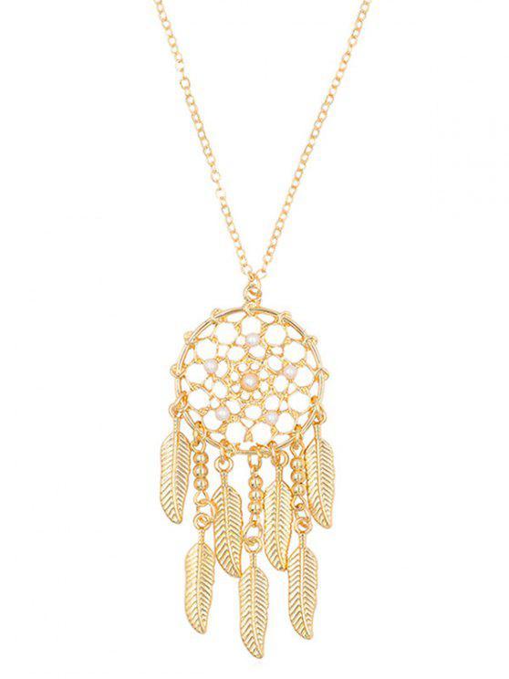 latest Stylish Alloy Fringed Mesh Necklace - GOLD