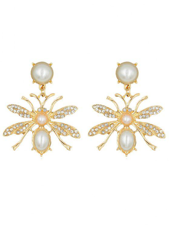 unique Butterfly Shape Rhinestone Alloy Earrings - GOLD