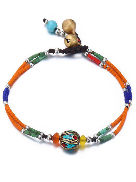 buy Boho Style Beaded Bracelet - TANGERINE