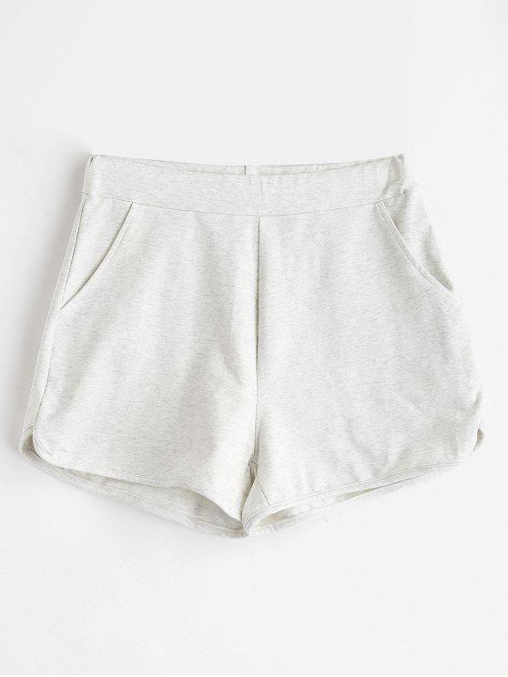 ZAFUL Pockets Sweat Shorts - Hellgrau M