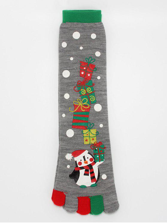 best Christmas Snowman Winter Full Toe Socks - BATTLESHIP GRAY