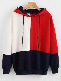 ZAFUL Color Block Loose Hoodie - Multi S