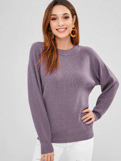 Suéter Con Mangas Raglán - Púrpura