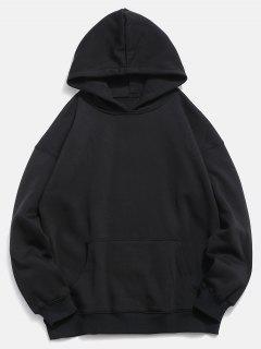 Back Koi Pattern Print Hoodie - Black M