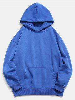 Koi Print Front Pocket Hoodie - Blueberry Blue M