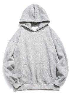 Back Koi Pattern Print Hoodie - Gray Cloud S