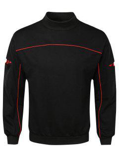 Casual Lay Open Sleeve Camouflage Sweatshirt - Black L