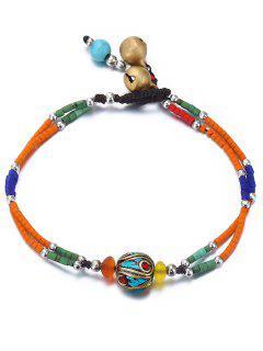 Boho Style Beaded Bracelet - Tangerine