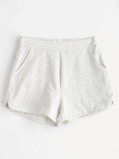 ZAFUL Pockets Sweat Shorts - Light Gray S