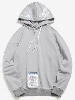 ZAFUL Waterproof Hat Patchwork Detail Hoodie - Gray Cloud 2xl