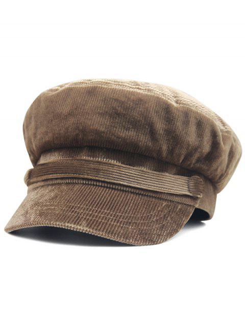 Chapeau de l'Armée Boutonné en Couleur Unie - Café  Mobile