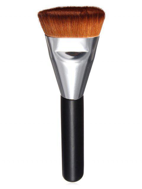 shops Multifunctional Synthetic Fiber Hair Flat Foundation Brush - SILVER  Mobile