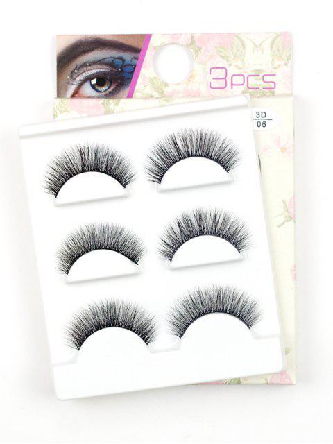 chic Beauty 3 Pairs Handmade Volumizing False Eyelashes Set - BLACK  Mobile