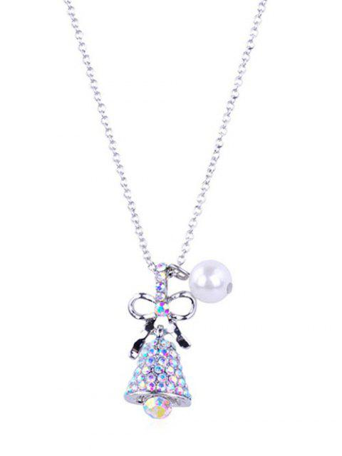 latest Sparkly Rhinestone Christmas Bell  Necklace - SILVER  Mobile