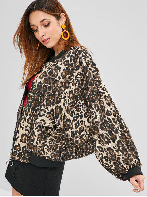 Leopard Drop Schulter Jacke - Leopard Eine Größe Mobile
