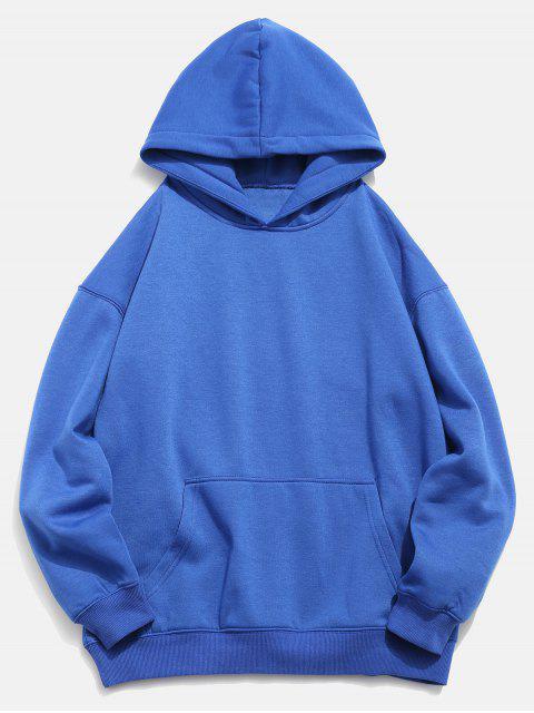 Koi Print Vordertasche Hoodie - Blaubeere 2XL Mobile
