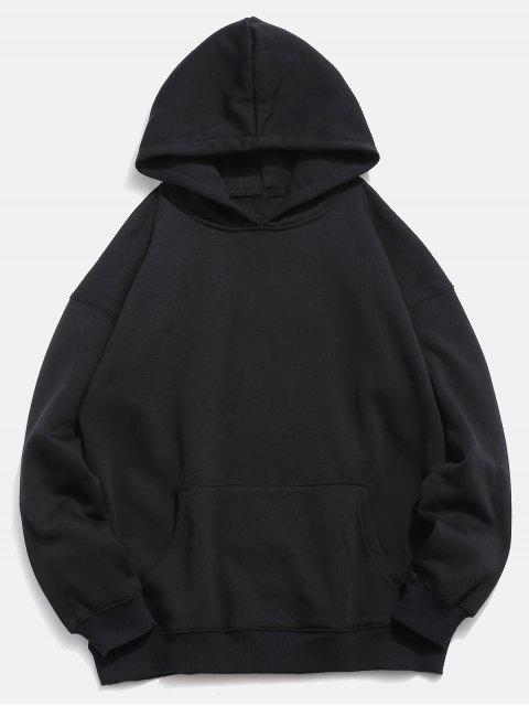Sweat à capuche avec motif Koi au dos - Noir 2XL Mobile
