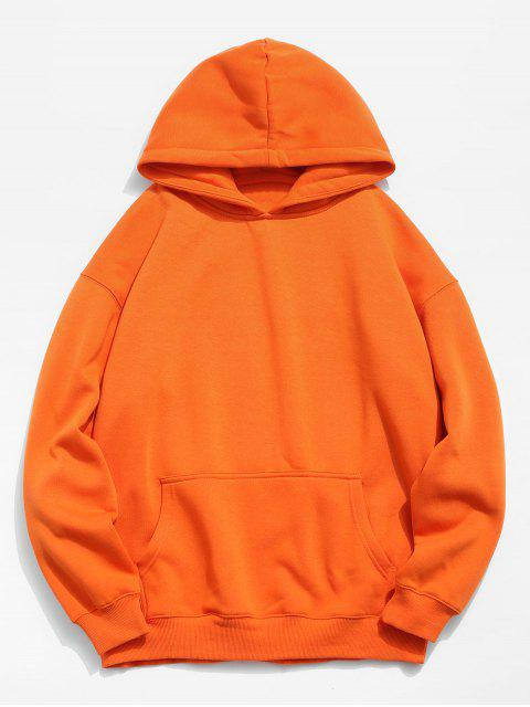 Sweat à Capuche Moitf de Poisson Imprimé - Orange Citrouille XL Mobile