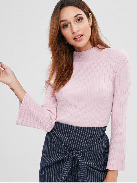 Suéter de manga acanalada acanalado - Cerdo Rosa Talla única Mobile