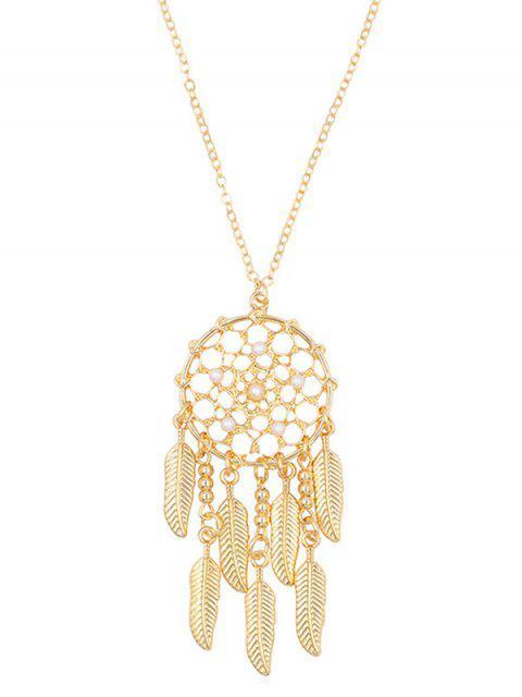 latest Stylish Alloy Fringed Mesh Necklace - GOLD  Mobile