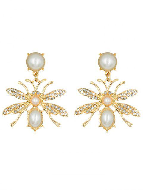 unique Butterfly Shape Rhinestone Alloy Earrings - GOLD  Mobile