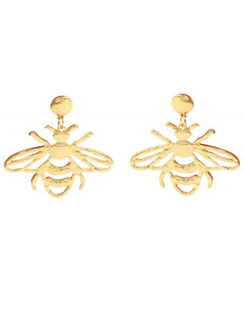 sale Novelty Alloy Bee Drop Earrings - GOLD  Mobile