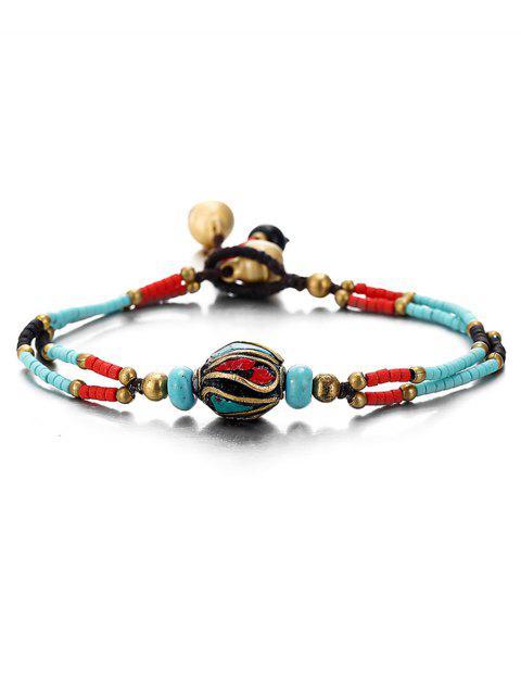 sale Boho Style Beaded Bracelet - DEEP SKY BLUE  Mobile