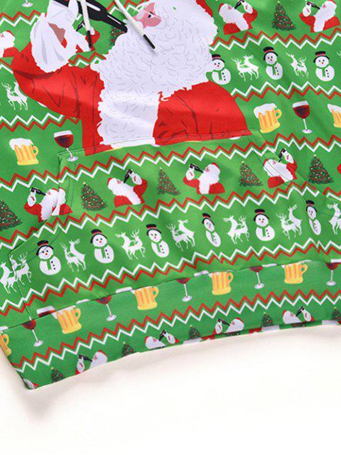 À boire à capuchon imprimé père Noël à cordon - Vert Algue L Mobile