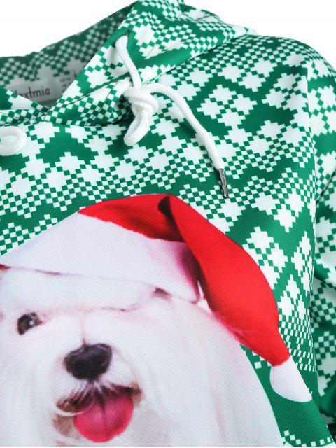 Talla grande bolsillo con capucha de navidad con capucha - Verde 2X Mobile