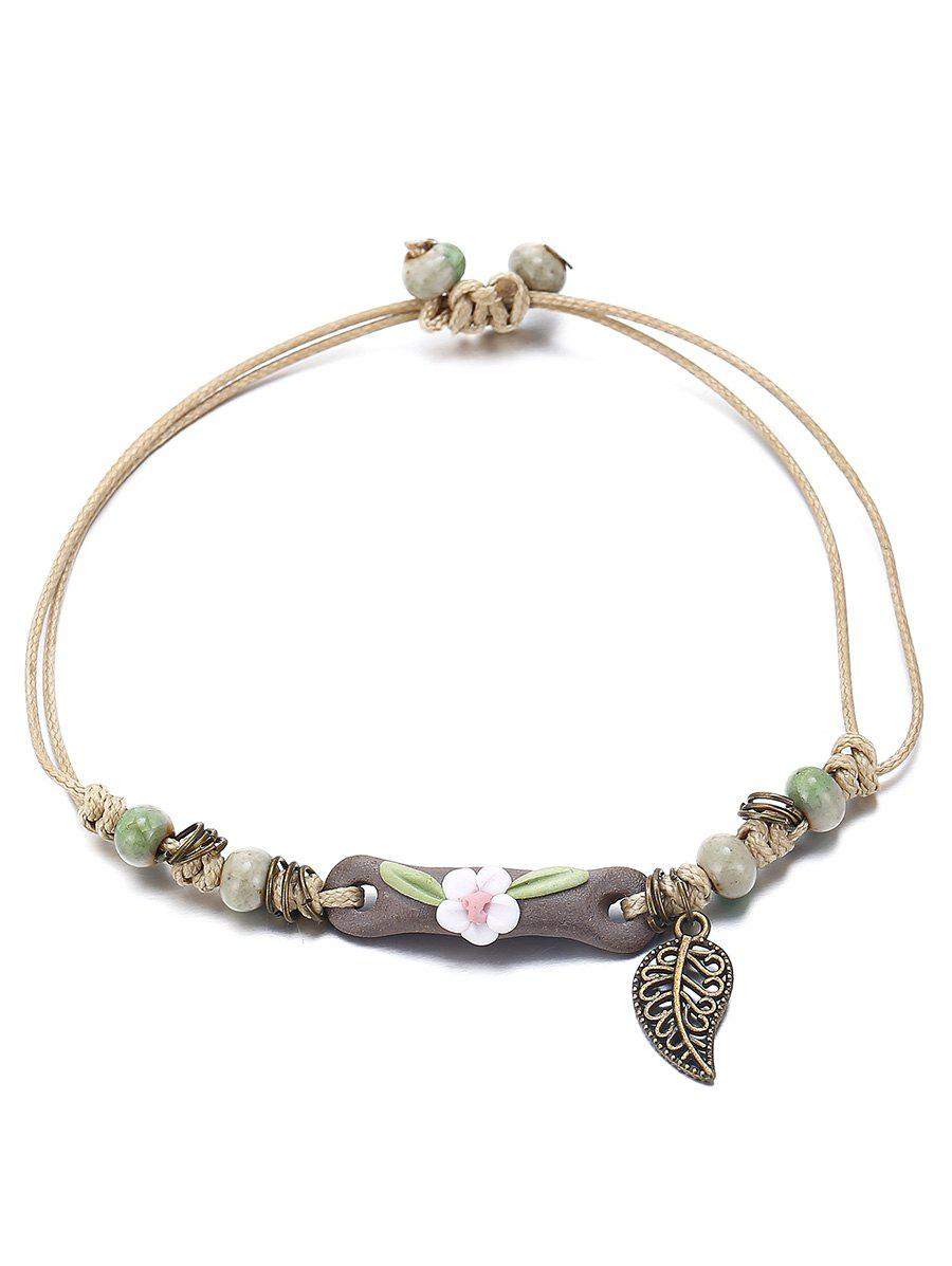 Ethnic Style Feather Floral Bracelet