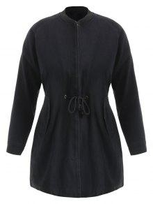 الرباط زمم أب زائد حجم معطف - أسود 4x